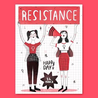 Widerstand glücklicher frauentag