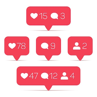 Wie, anhänger, kommentarvektorikonen eingestellt. schablone des zählers mit informationen für social networking. illus