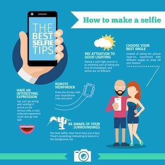 Wie man ein selfie infograpfic macht