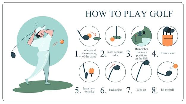 Wie man golf guide für anfänger spielt