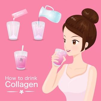 Wie man köstliches kollagen trinkt