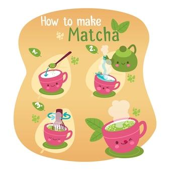 Wie man matcha macht