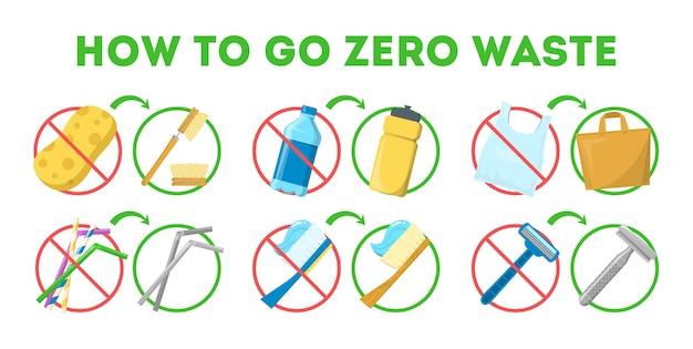 Wie man null-abfall-tipps für menschen geht