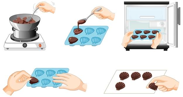 Wie man schokoladenschritte macht