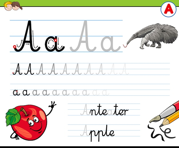 Wie schreibe ich einen buchstaben?