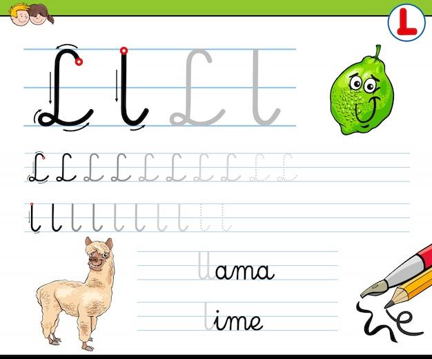 Wie schreibe ich l arbeitsblatt für kinder