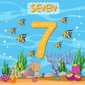 Wie schreibe ich nummer sieben?