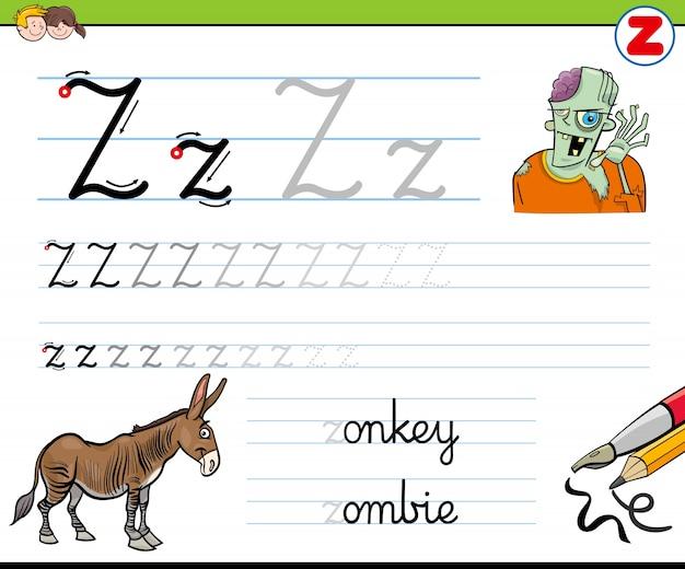 Wie schreibe ich z-arbeitsblatt für kinder