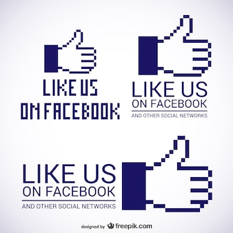 Wie sie uns auf facebook logos