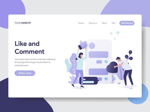 Wie und kommentar illustration für webseiten
