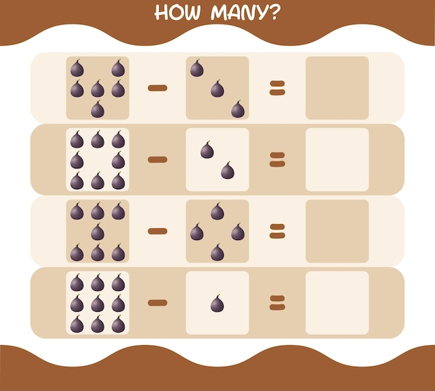 Wie viele cartoon abb. spiel zählen. lernspiel