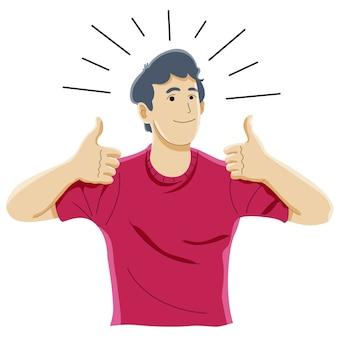 Wie zeichen, erfolg, anerkennung, freude und glückskonzept