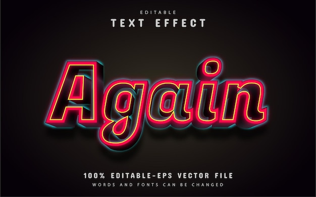 Wieder text, roter 3d-texteffekt
