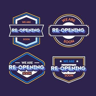Wiedereröffnung bald abzeichen sammlung konzept