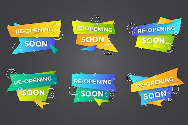Wiedereröffnung bald abzeichen sammlung