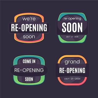Wiedereröffnung bald abzeichen stil