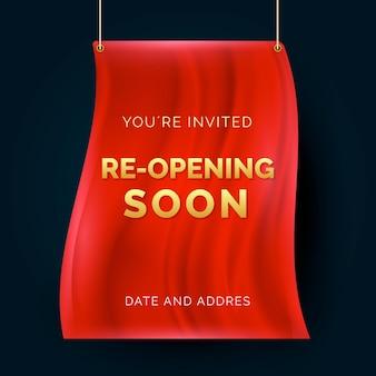 Wiedereröffnung bald einladungsbanner