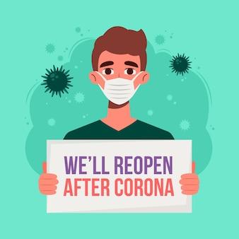 Wiedereröffnung der wirtschaft nach dem coronavirus