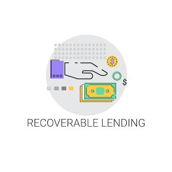 Wiedergewinnbare darlehensgeschäft-finanzierungskonzept-ikone