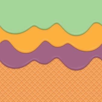 Wiederholbarer vektorkunsthintergrund der nahtlosen oblate und der bratenfettcreme