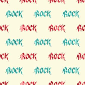 Wiederholen von text rock-muster, musikillustration. kreatives und luxuriöses cover