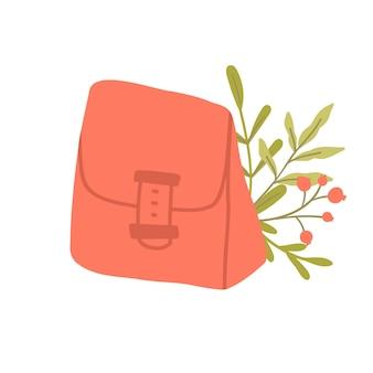 Wiederverwendbare lunchbox. nachhaltige küche und zero waste lifestyle. öko-lebenskonzept. vektor-cartoon-illustration.