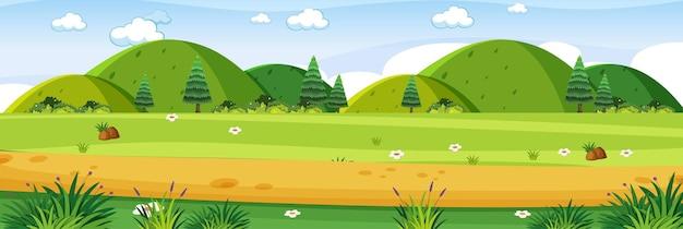 Wiesenlandschaftsszene im freien