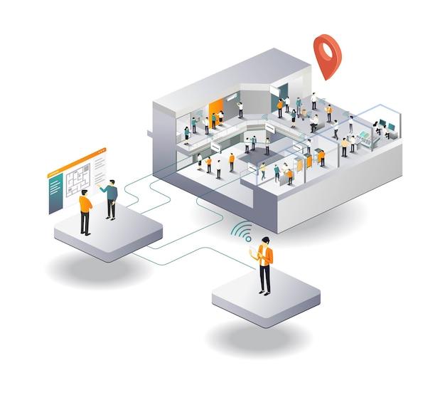 Wifi-netzwerküberwachungszentrum in einkaufszentren und wohnungen