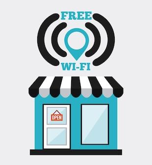 Wifi-service-design, grafik der vektorillustration eps10