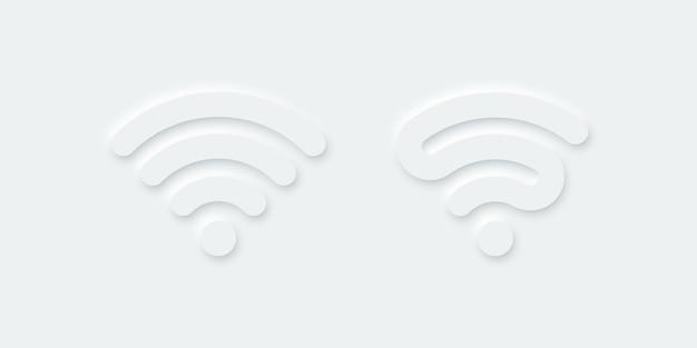 Wifi-symbolvektorzeichen lokalisiert auf weiß