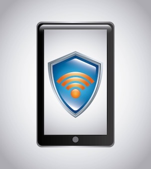 Wifi-verbindung service isoliert symbol