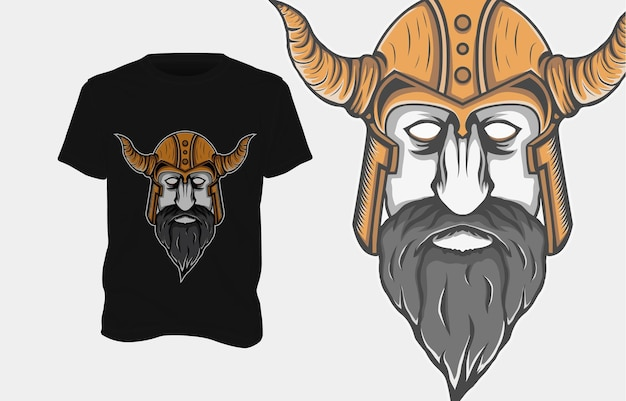 Wikinger illustration t-shirt design