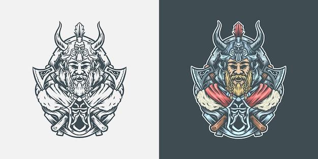 Wikinger-illustrationskunst