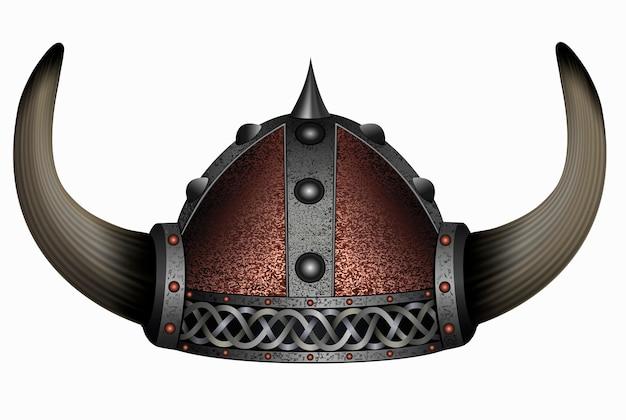 Wikinger im gehörnten helm.