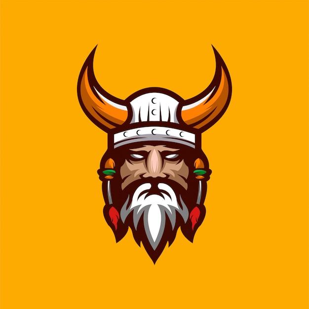 Wikinger logo design premium
