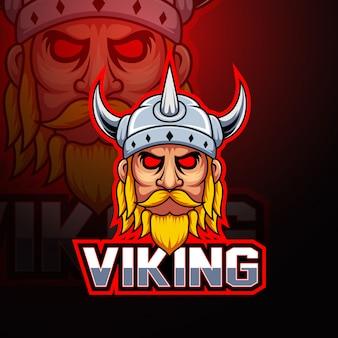 Wikinger-maskottchen-logo
