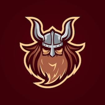 Wikinger maskottchen logo