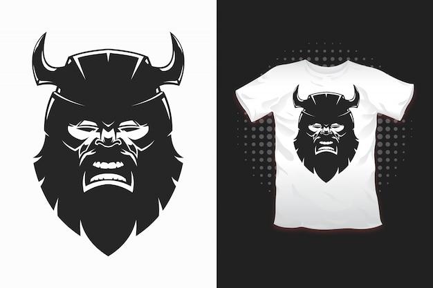 Wikinger-print für t-shirt-design