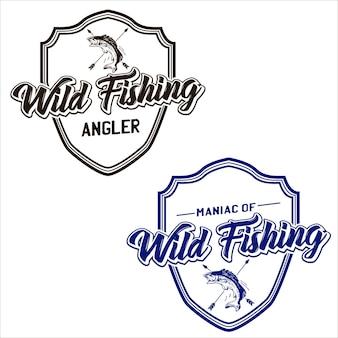 Wild angeln abzeichen