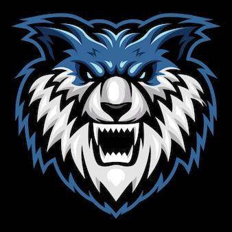 Wild dog esport logo illustration