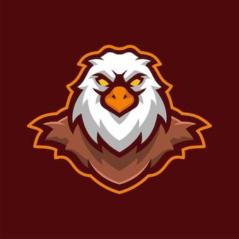 Wild eagle vogel tier maskottchen e-sport logo charakter