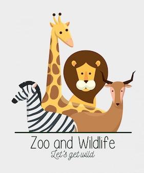 Wild lebende tiere mit natürlichem safari-reservat
