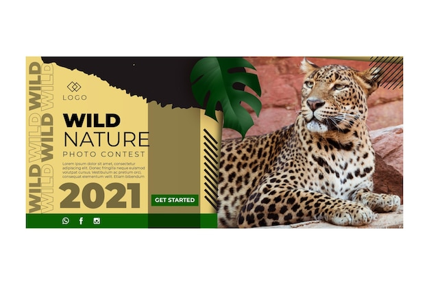 Wild natur banner vorlage