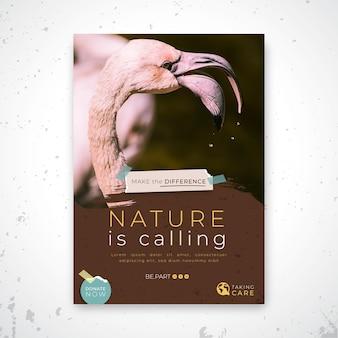 Wild natur flyer vorlage