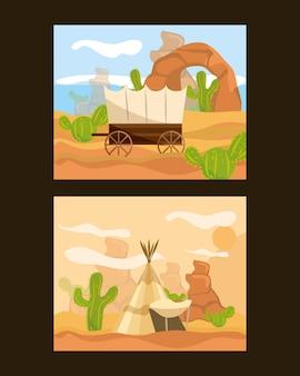 Wild-west-karten
