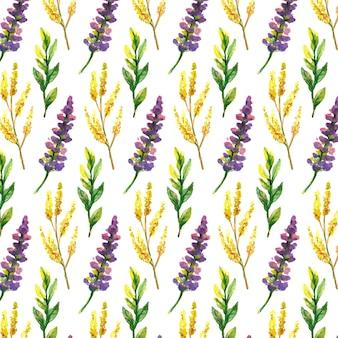 Wildblumen, aquarell, mohn, kornblume, kamille, hintergrund
