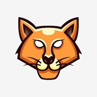 Wildcat head maskottchen logo illustration