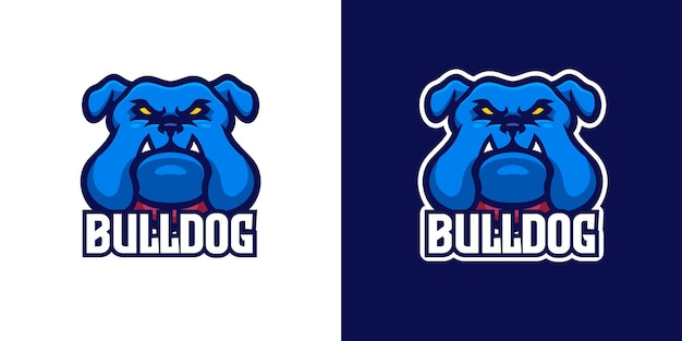 Wilde bulldogge maskottchen charakter logo vorlage