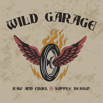 Wilde garagen-design-illustration