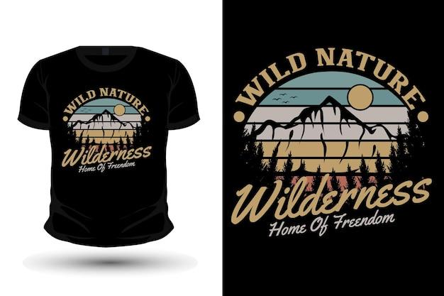 Wilde natur natur merchandise silhouette mockup t-shirt design